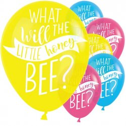 Baby Shower Ballonger 6-pack What will it bee?