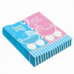 Babyshower servetter pojke eller flicka? 16-pack