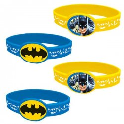 Batman Kalasarmband 4-pack