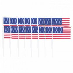 Cocktailflaggor USA 120-pack