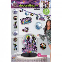 Disco dekorationskit 10-pack