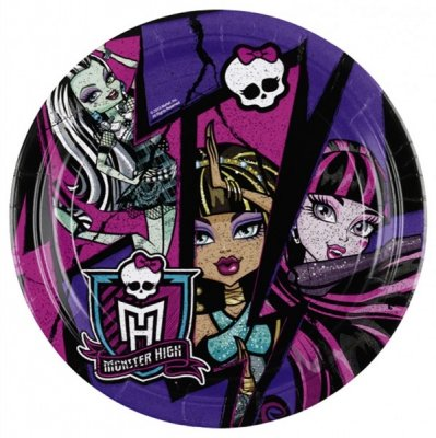 Monster High 2, tallrikar 8-pack