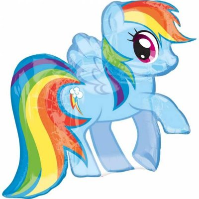My Little Pony Rainbow Dash Formad Folieballong