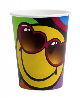 Smiley cool, muggar 8-pack